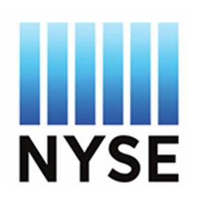 NYSE logo black and blue